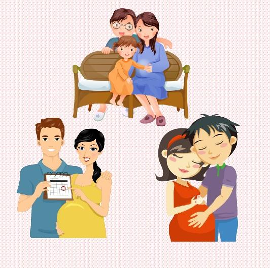 卡通形象设计--准妈妈准爸爸形象