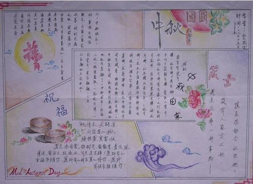 关于中秋节手抄报 黑板报 内容和资料精选
