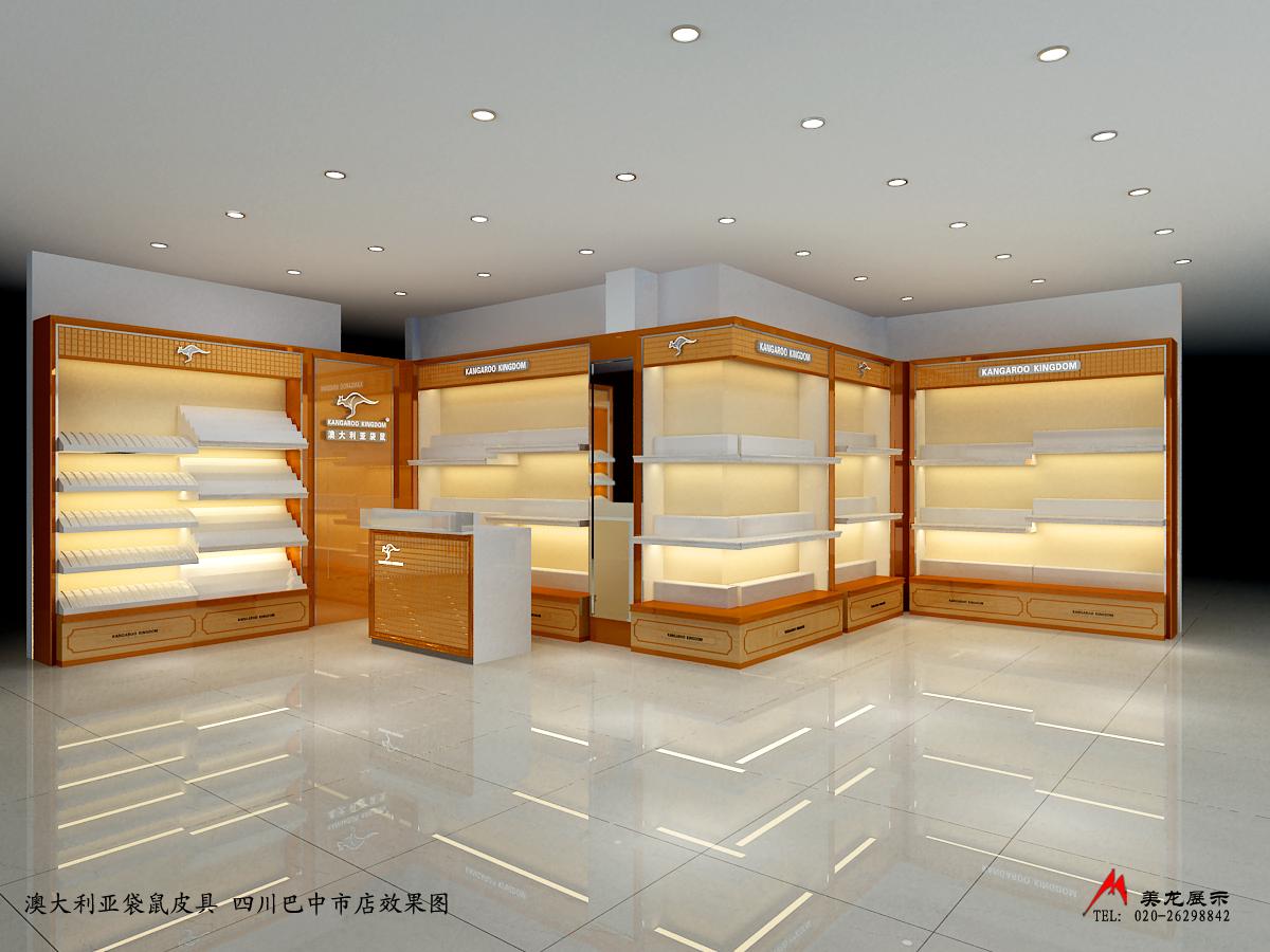 皮包门市装修,设计橱窗货柜