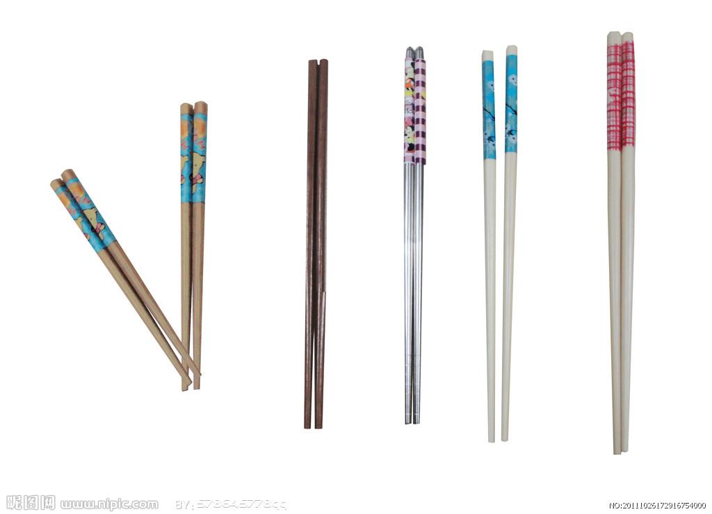 青花瓷筷子矢量图素材