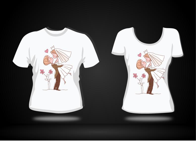 情侣t恤图案设计