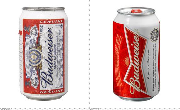包装设计,百威啤酒更换最新包装