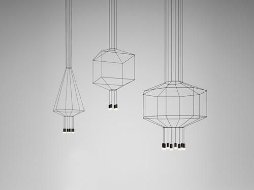 创意工业设计 线条吊灯