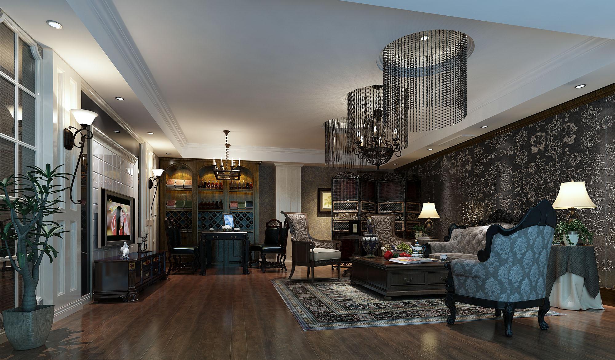 欧式新古典的茶室