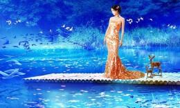 美女虛幻風景合成教程 數碼照片處理技巧