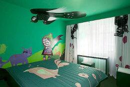手绘墙画饰家新元素 家居装修装饰也流行DIY