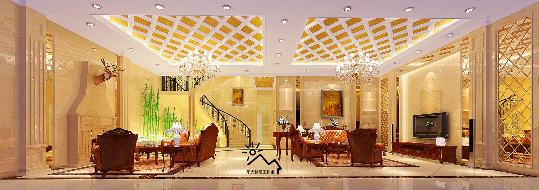 服务内容-奢华欧式及别墅家居设计:含cad施工图整套,效果图含客餐厅及