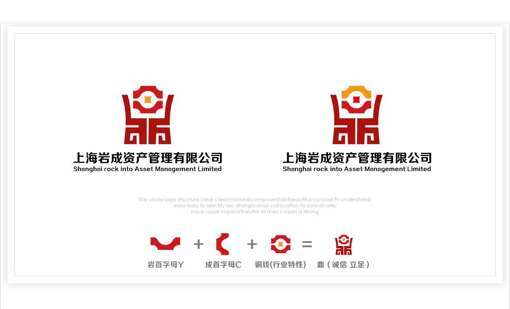 金融公司logo设计及简单应用图片
