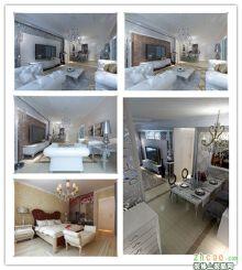 5万营造安然小居 中式风格 两室两厅一卫0