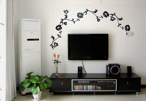 手绘电视背景墙设计步骤 手绘电视背景墙设计的材质