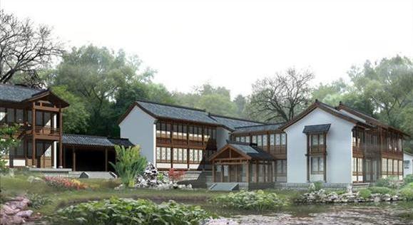 中国古建筑效果图欣赏 经典仿古建筑效果图