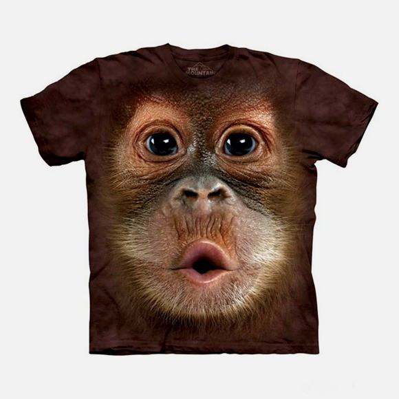 3d创意t恤动物图案设计 3d大脸动物个性t恤欣赏