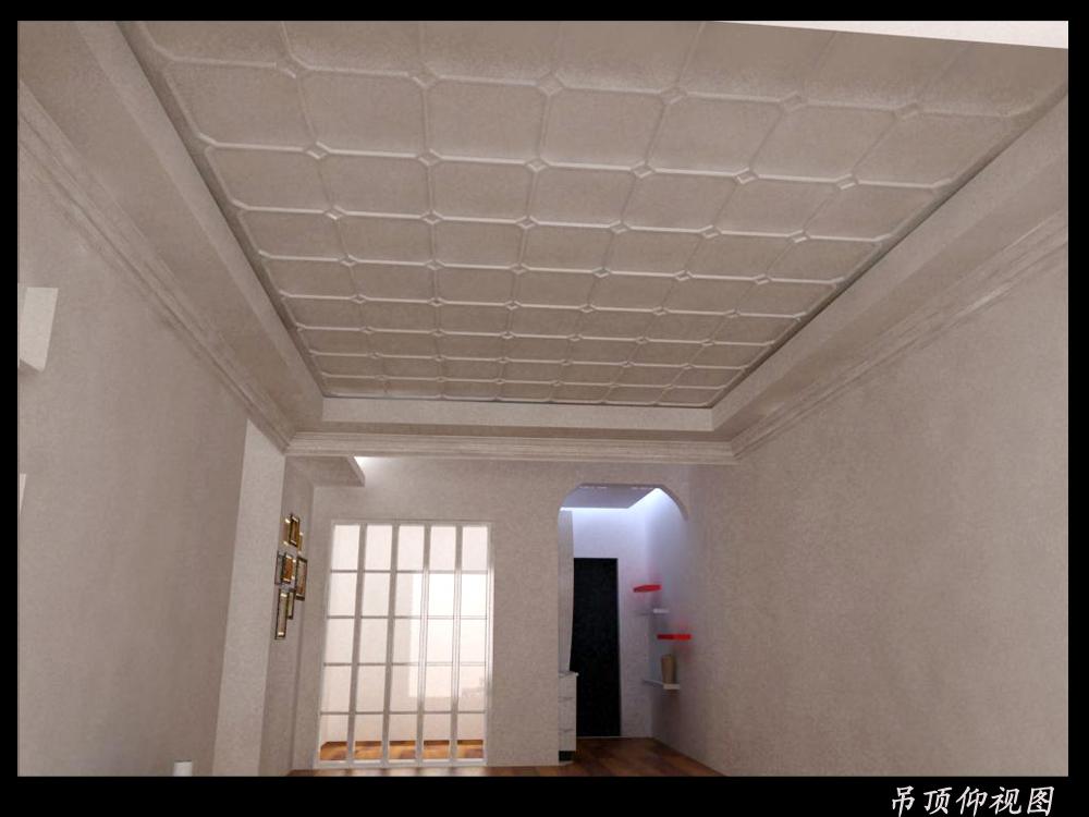 仰视欧式天花板