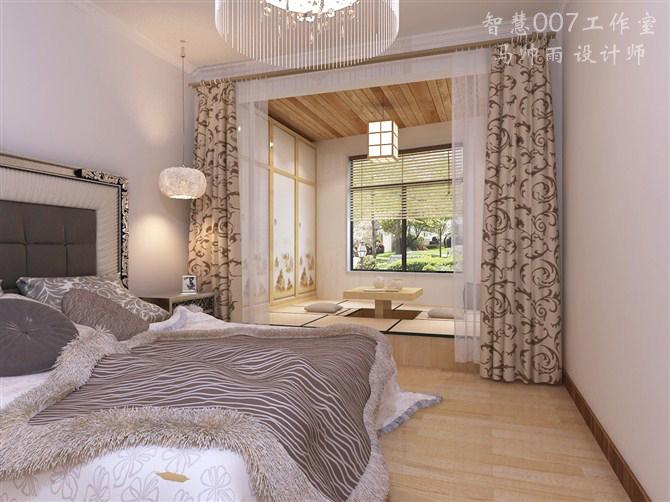 马帅雨 设计师 的设计作品,该作品是家庭装修方面的创意,家装,主卧.