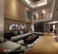 五洲三期6涂先生家居设计复式住宅4室2厅2卫现代装修案例效果图