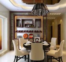 江滨豪园普通住宅3室2厅2卫中式装修案例效果图