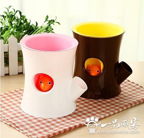 松鼠小花盆创意工业设计
