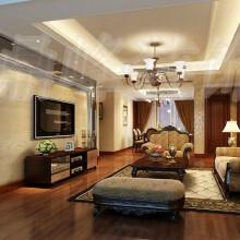 桂花城普通住宅3室2厅2卫雅致主义装修案例效果图