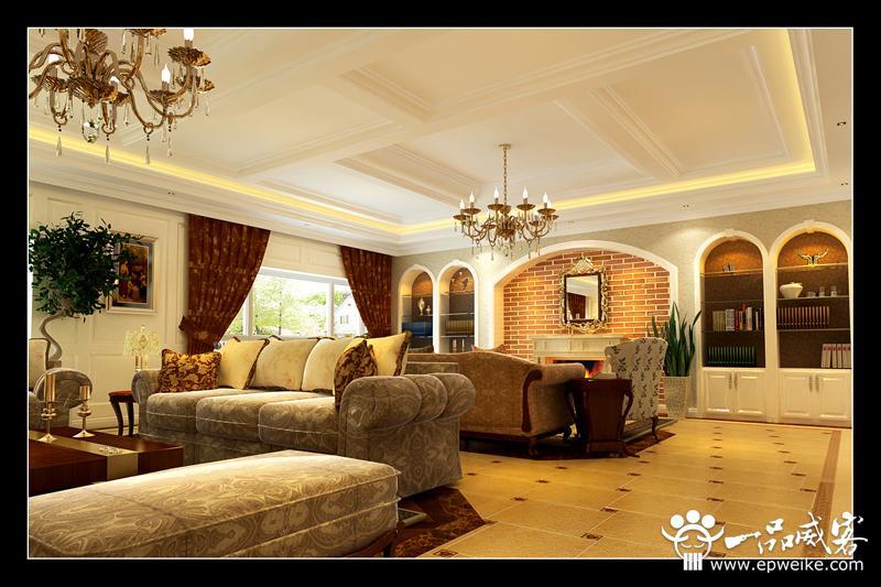 别墅半圆弧的窗帘