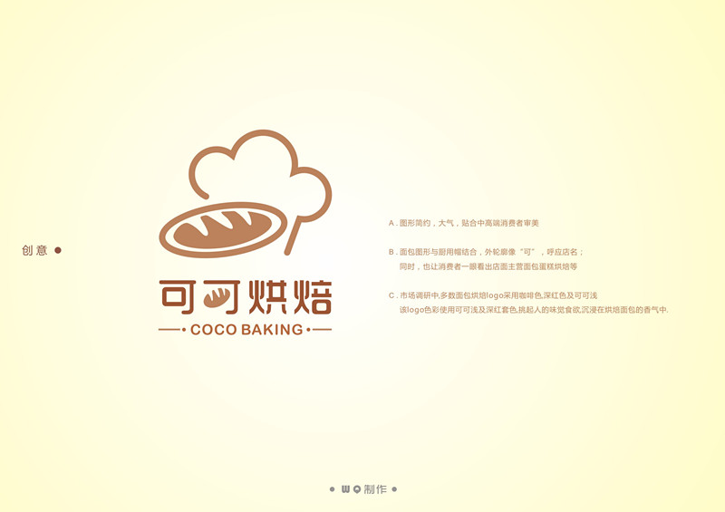 烘焙连锁店logo设计