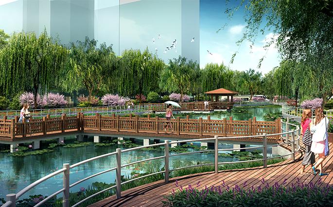 案例展示景观设计_亿怡景观设计河道改道绿城景观设计怎么样图片