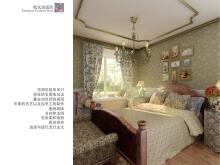 欧式田园风卧室效果图设计