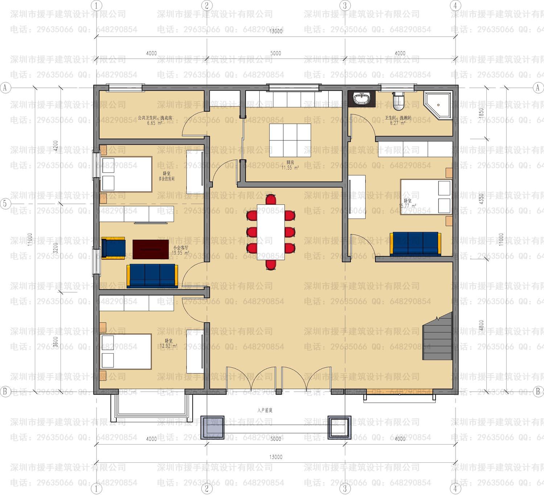 根据房屋平面图设计外形做一个效果图