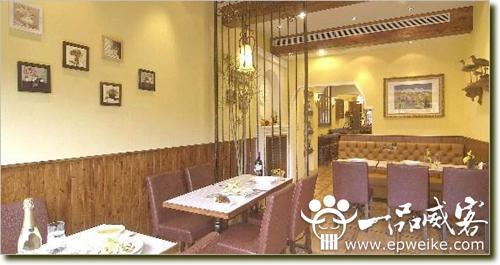饭店装修效果图 田园风格餐厅装修效果图 现代庭院风格特色餐厅