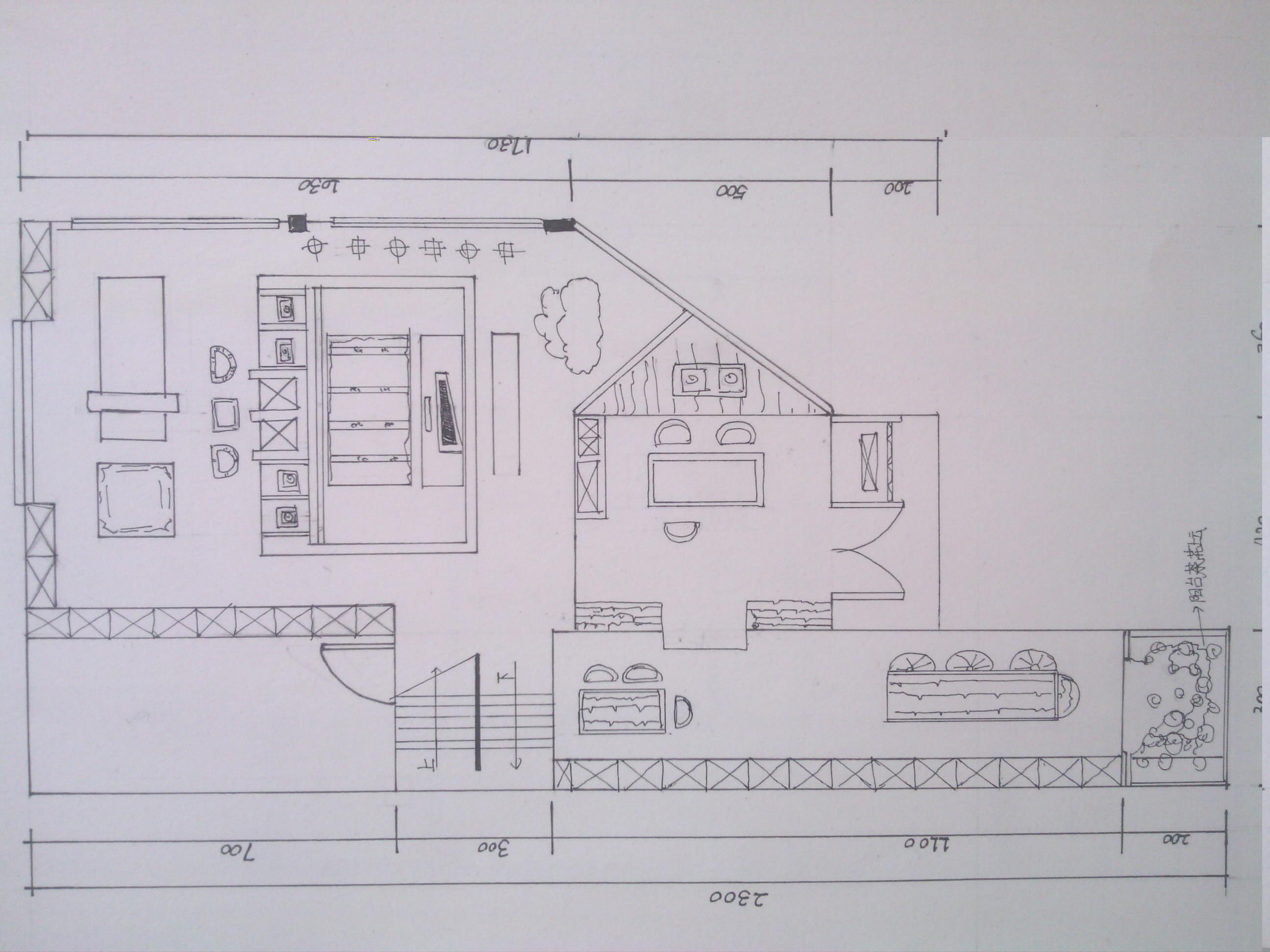 家居设计手绘图稿案例