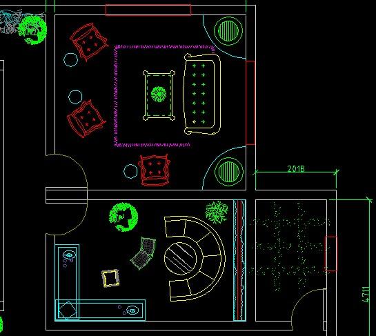 茶楼cad平面图设计图片