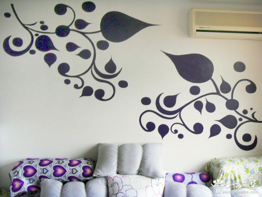 室内手绘墙画如何配色