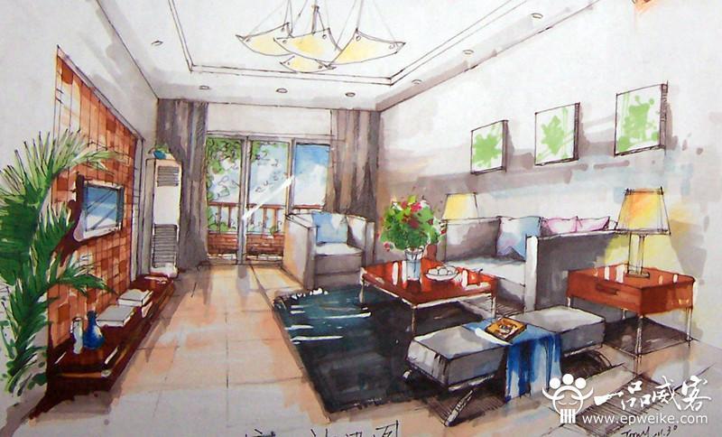 手绘室内效果图制作要素 手绘室内效果图设计制作