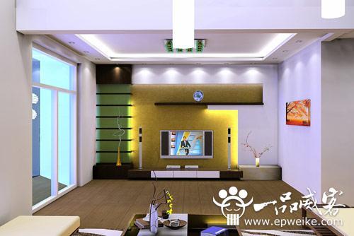 80后客厅手绘电视机背景墙设计 个性手绘电视机背景墙