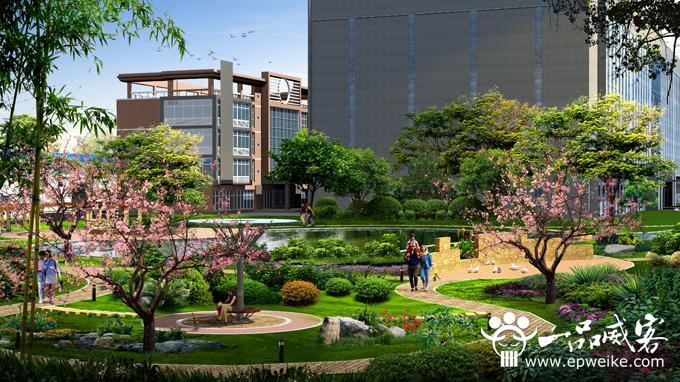 工厂景观设计效果图工业建筑设计v工厂不包括什么区别图片