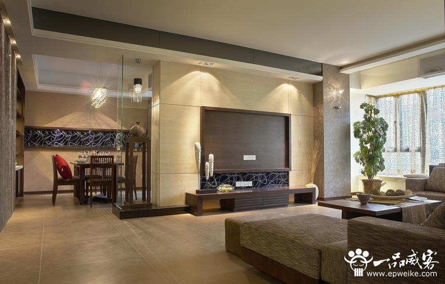 客厅电视背景墙设计颜色搭配
