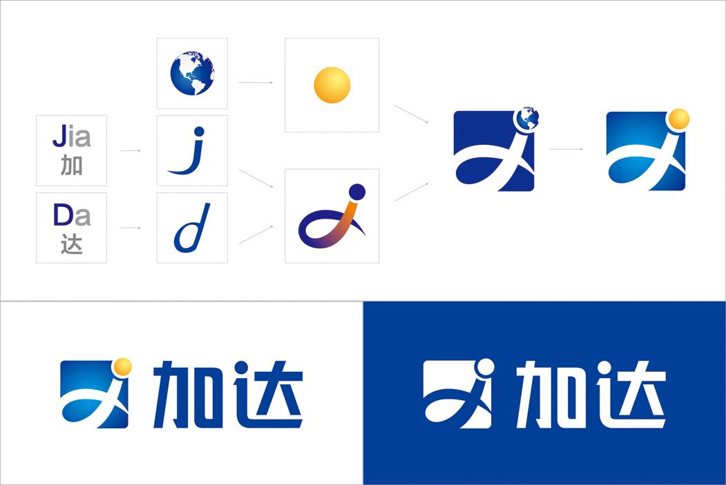 """""""加达""""字体从新设计,打造专属字体,增强识别性."""