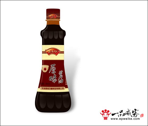 源溪坊醬製品瓶形瓶標包裝設計