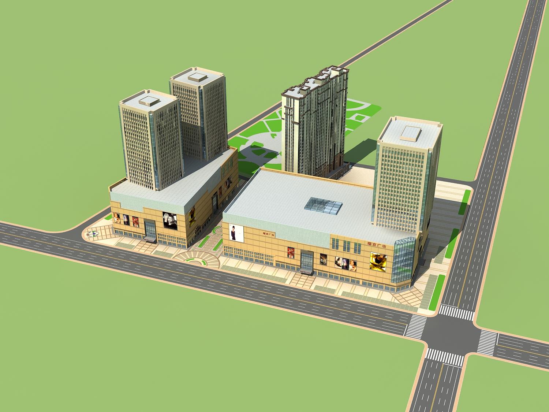 商业建筑效果图设计