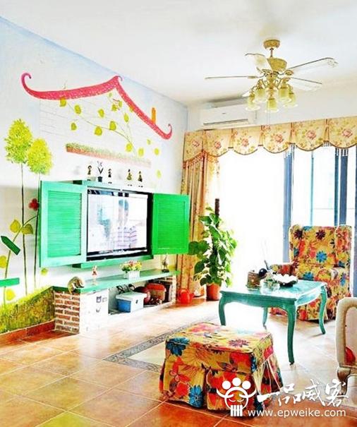 创意手绘背景墙设计方案 创意手绘背景墙装修设计