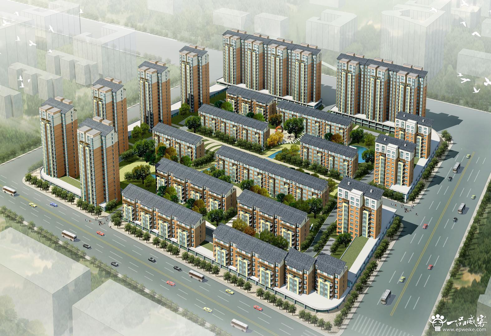 现代住宅小区规划设计原则 遵循现代小区规划设计原则图片