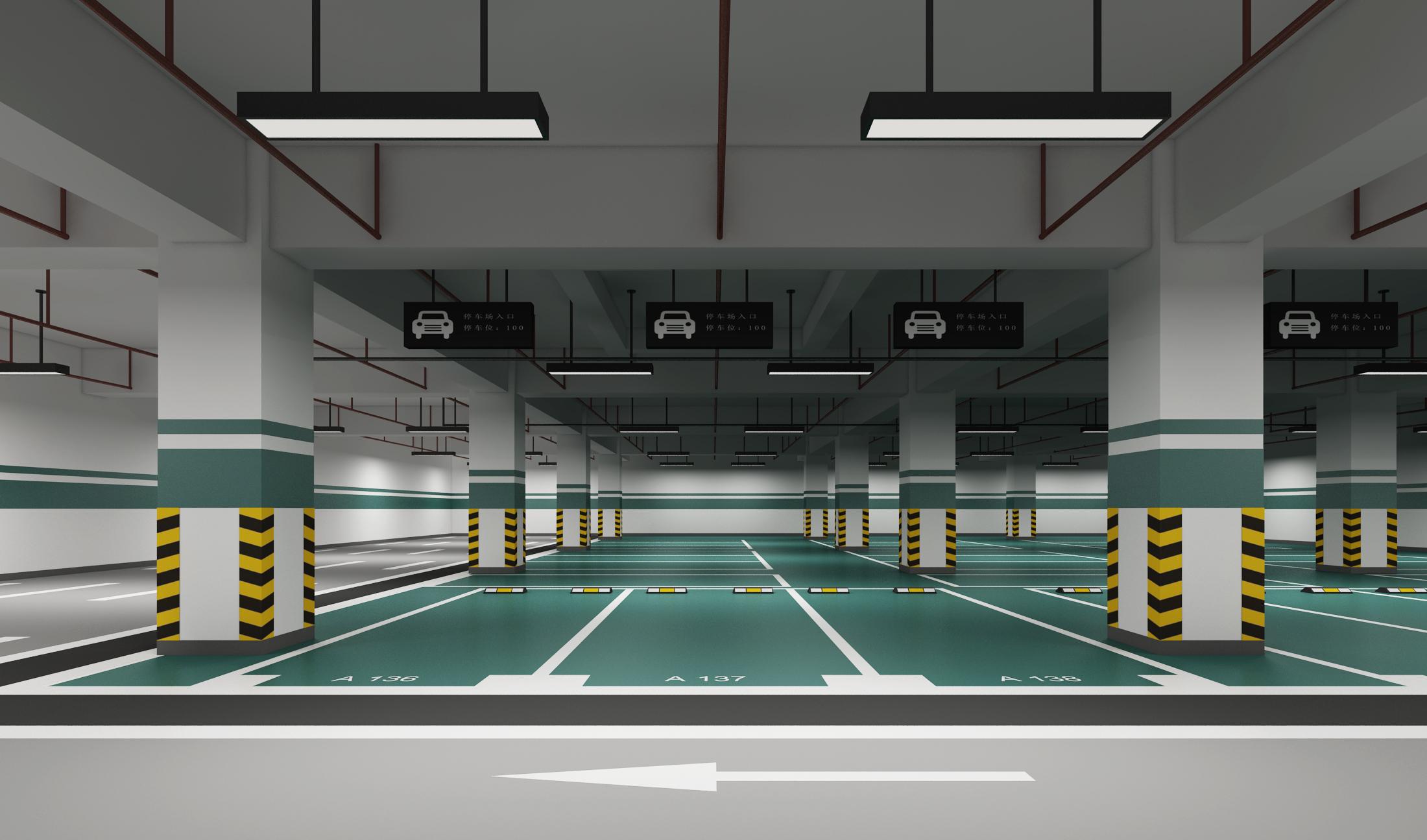 地下车库效果图【参与时间从后到前入围稿件】