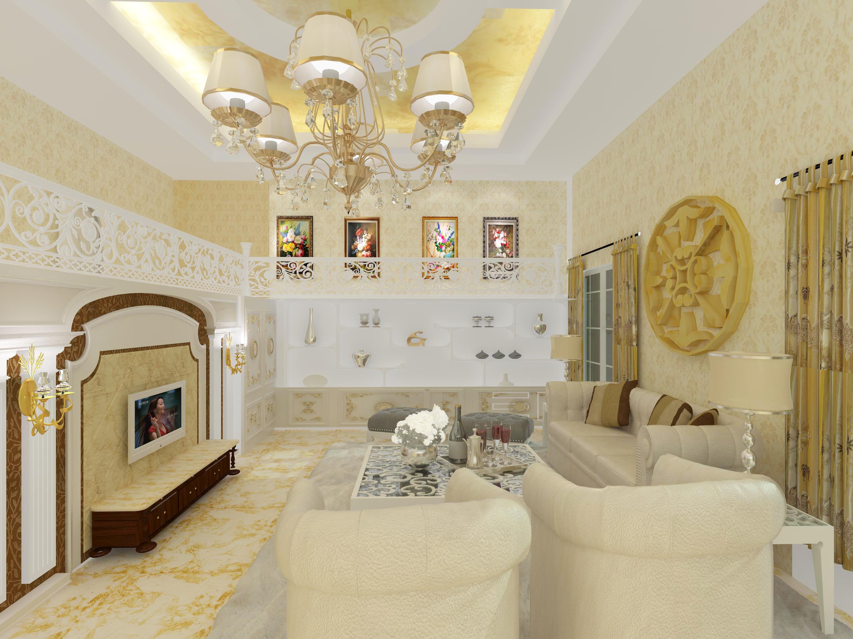 欧式客厅设计_蝶儿室内设计工作室案例展示
