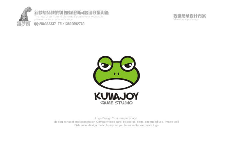 任务内容: logo及名片设计 logo中文全称:酷蛙游戏工作室 logo英文