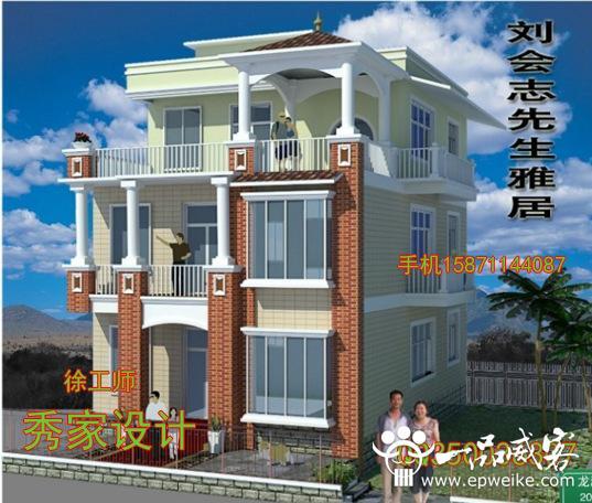 房屋建筑图乡村住宅别墅cad图纸全套设计施工外观