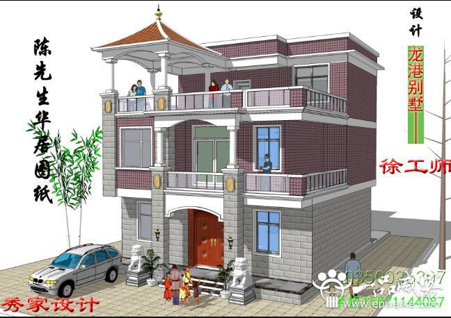 自建房屋建筑图乡村住宅别墅cad图纸全套设计施工外观