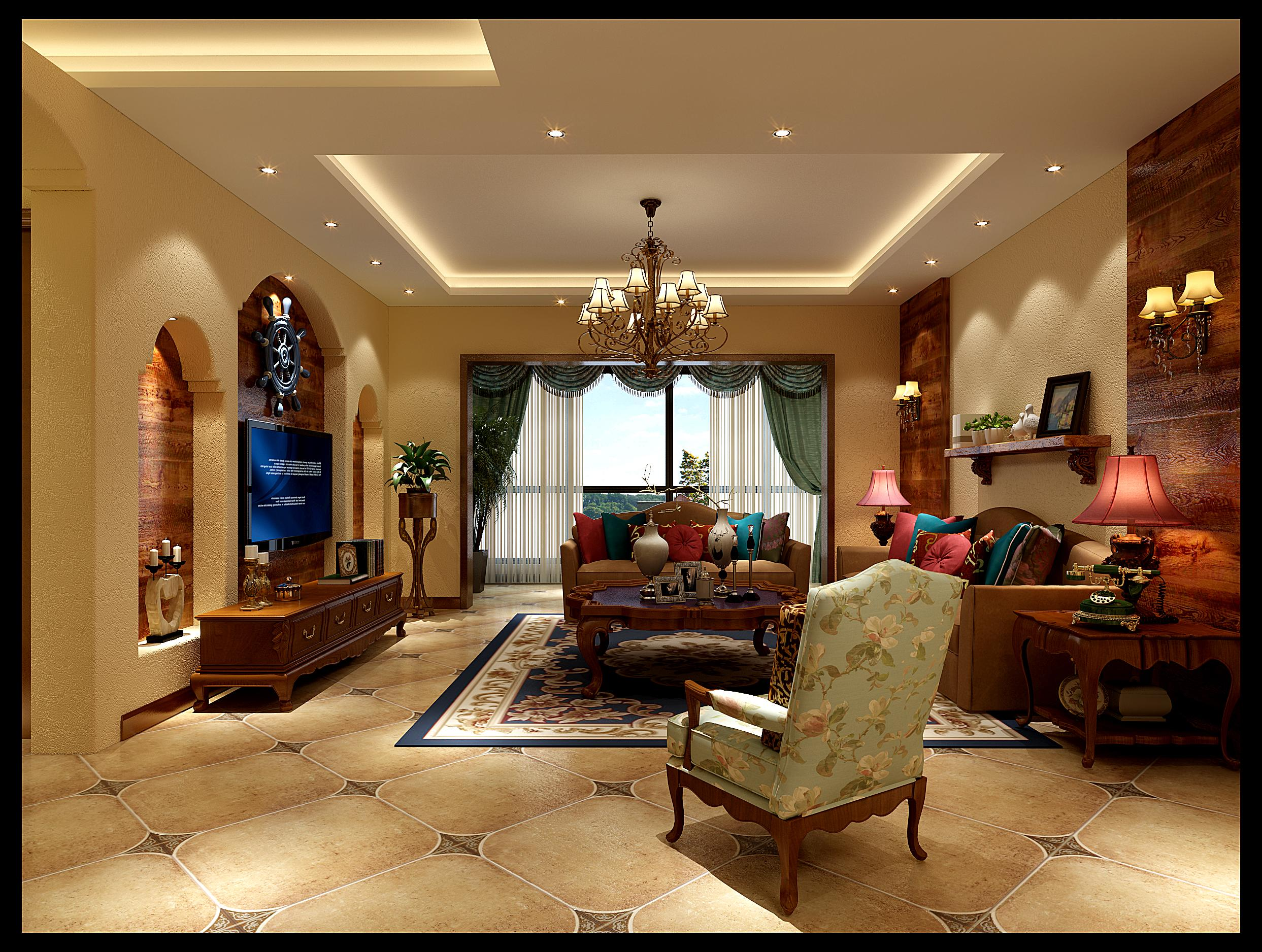 85平方欧式家庭装修效果图