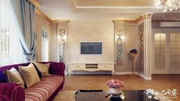 现代简约欧式电视背景墙设计 欧式电视机背景墙简约设计