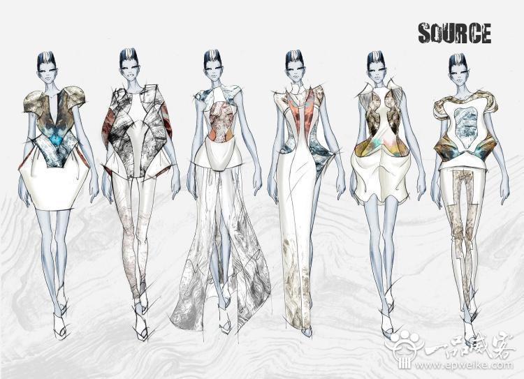 每一个服装设计师都要学会服装设计图绘画方法,服饰设计图是直接赢