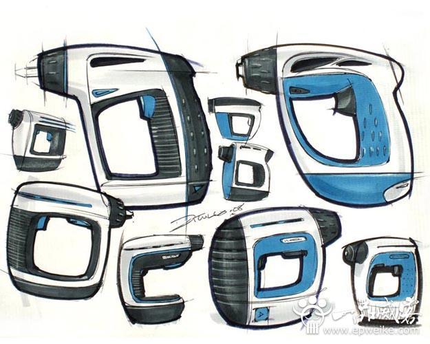 产品工业设计手绘_工业设计作品学习方法  手绘是从事建筑,服饰陈列