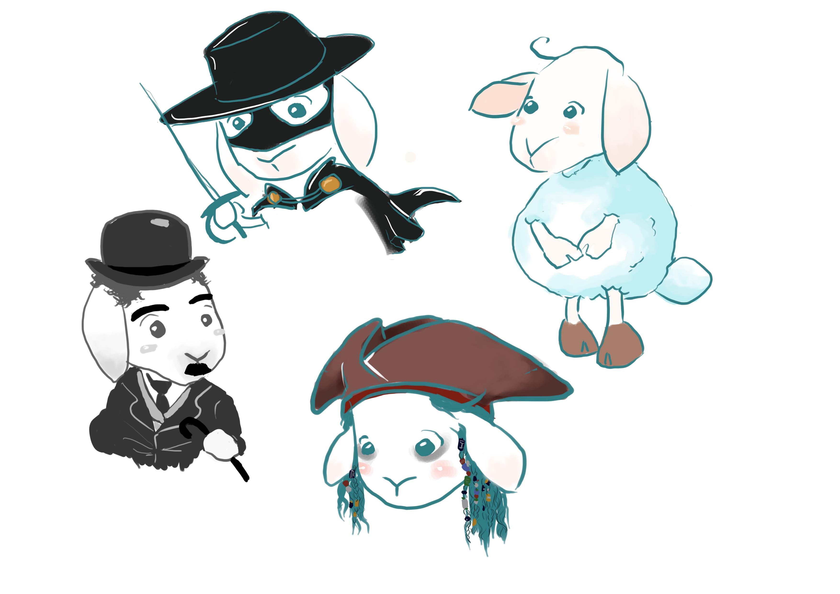 羊以及电影人物设计_gogo工作室案例展示